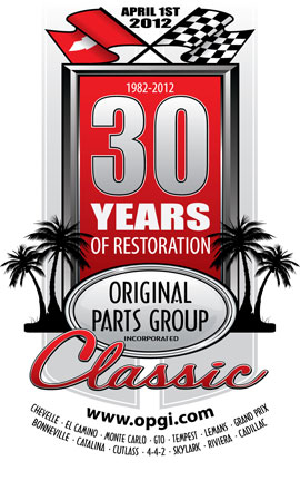 original parts group inc celebrates 30 years with the 30th anniversary car show opgi blog. Black Bedroom Furniture Sets. Home Design Ideas