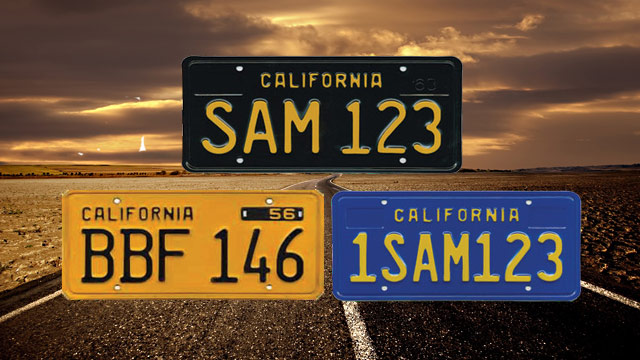 Dating california dmv license plate by sequence issued