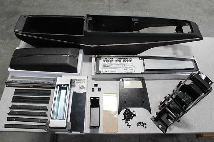 chevelle replacement center console installation
