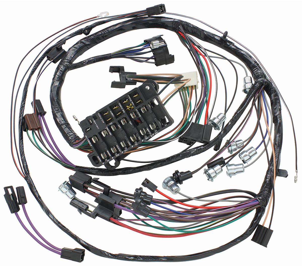 05780 lrg m&h 1965 chevelle dash instrument panel harness all w ss gauges Farmall H Wiring Diagram at crackthecode.co