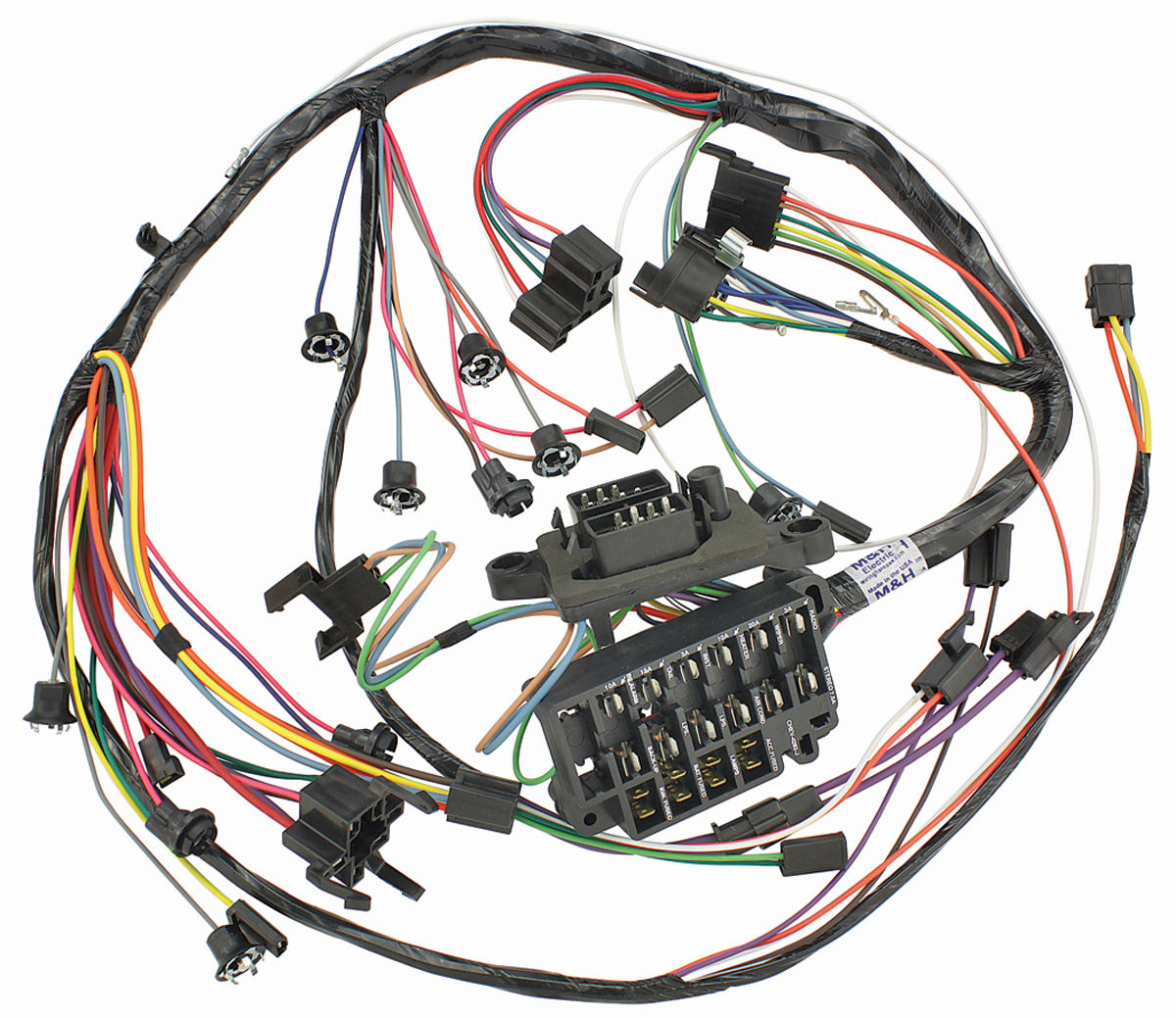 m h 1965 chevelle dash instrument panel harness all w warning lights rh  opgi com 1970 Chevelle Wiring Harness 1967 Chevelle Wiring Schematic Online
