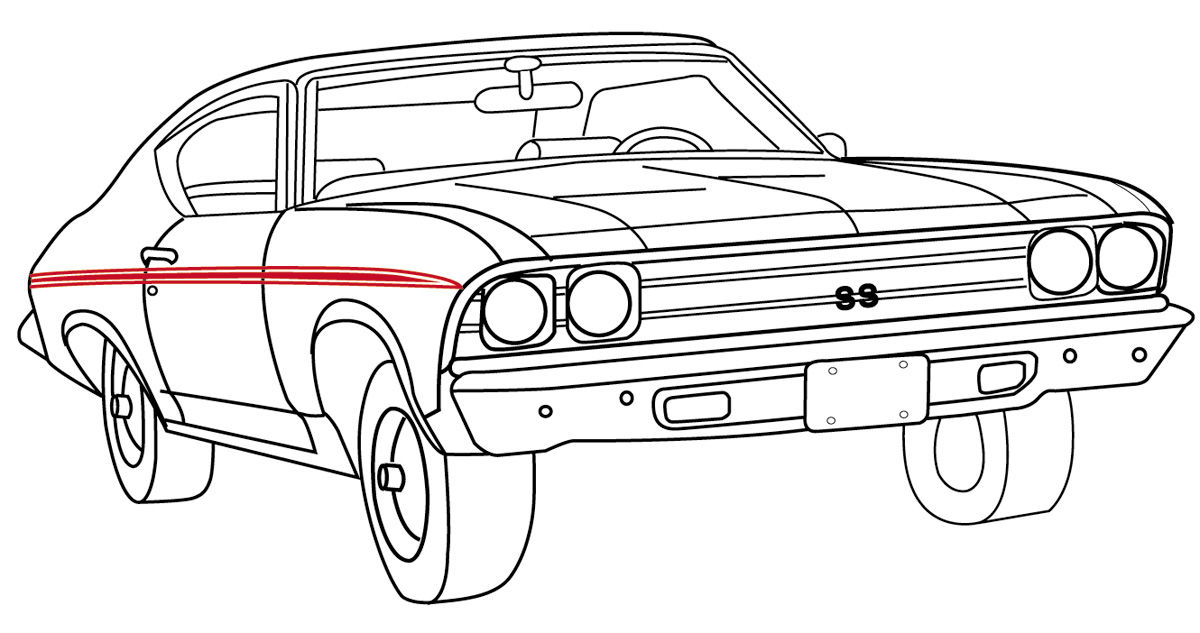 restoparts body stripe decals  1969 super sport chevelle
