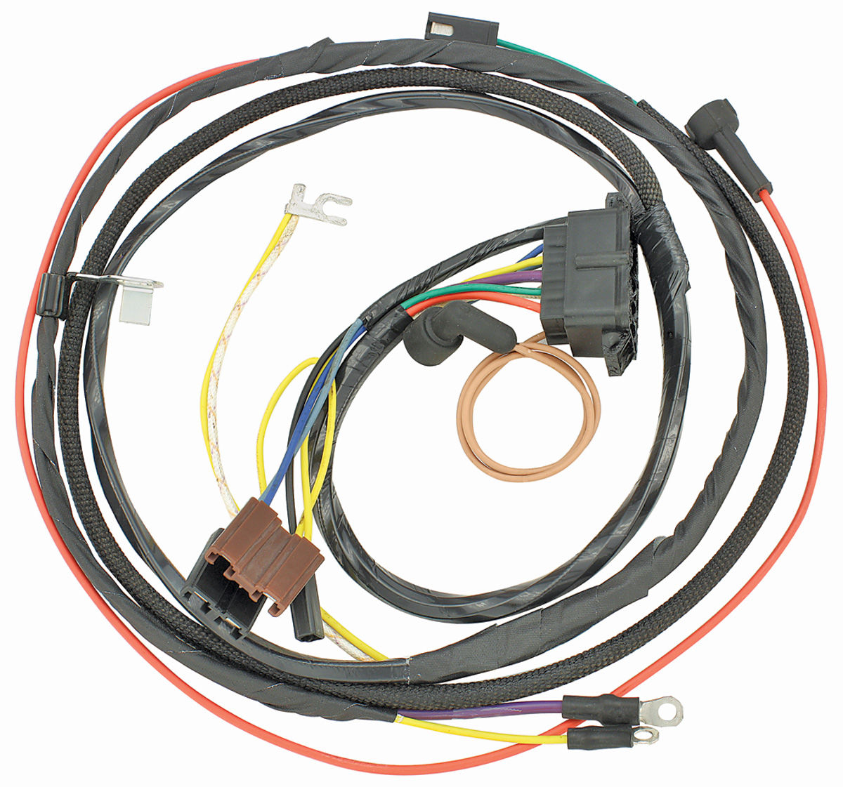 10570 lrg m&h 1967 chevelle engine harness 396 w gauges @ opgi com Farmall H Wiring Diagram at crackthecode.co