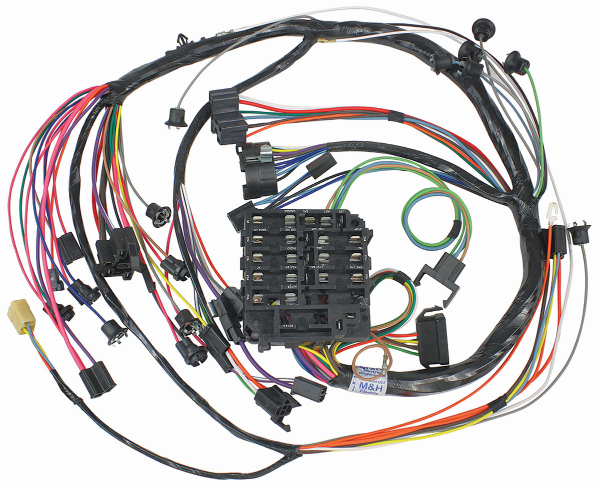 1985 el camino ignition wiring diagram m&h 1968 el camino dash/instrument panel harness w/warning ... 1985 el camino wiring harness #13