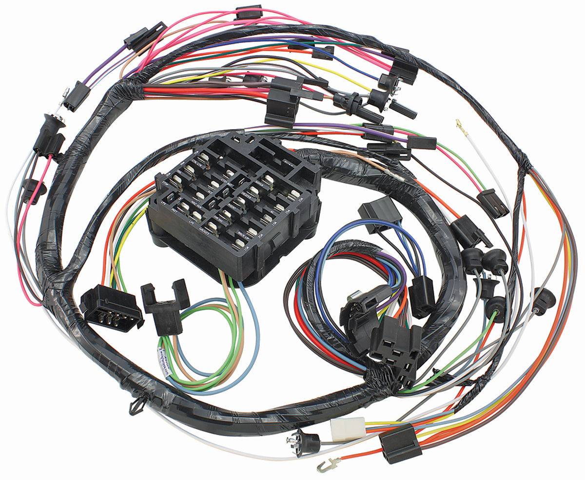 Muscle Car Wiring Harness Simple Guide About Diagram 7685n Alternator M H 1968 El Camino Dash Instrument Panel Console