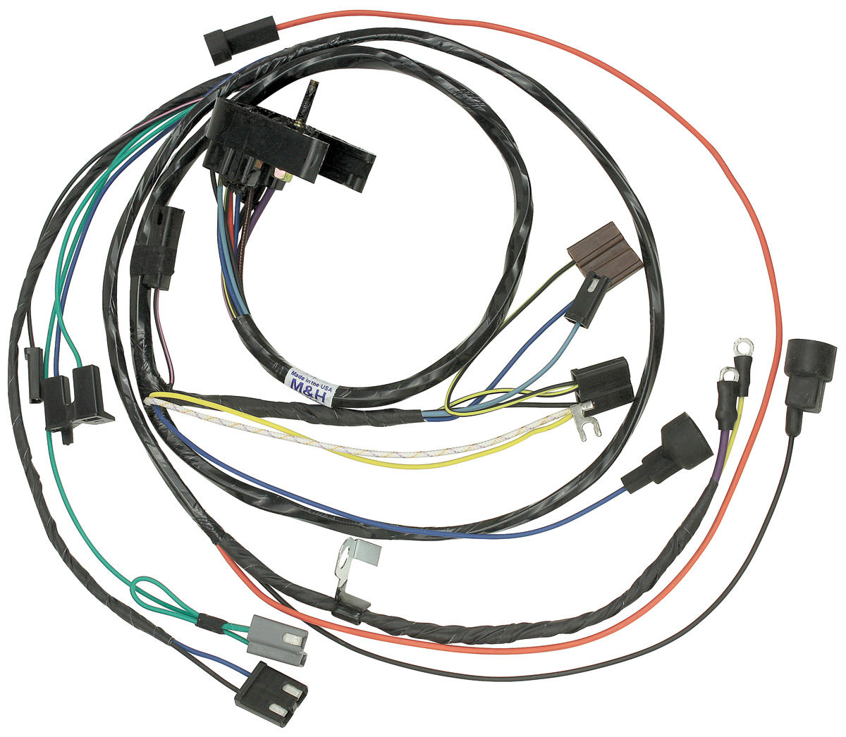 14700 lrg m&h 1970 monte carlo engine harness v8 (with automatic 1971 El Camino Wiring Harness at mifinder.co
