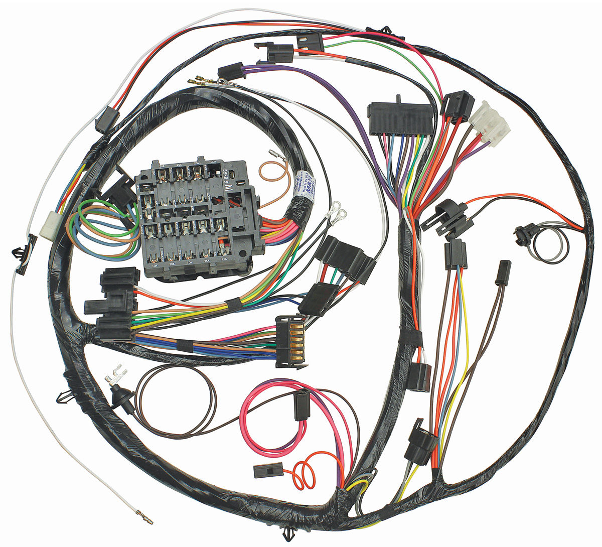m&h 1971 chevelle dash/instrument panel harness all, round ... 68 charger wiring diagram for dash wiring diagram for dash gauges 69 w30