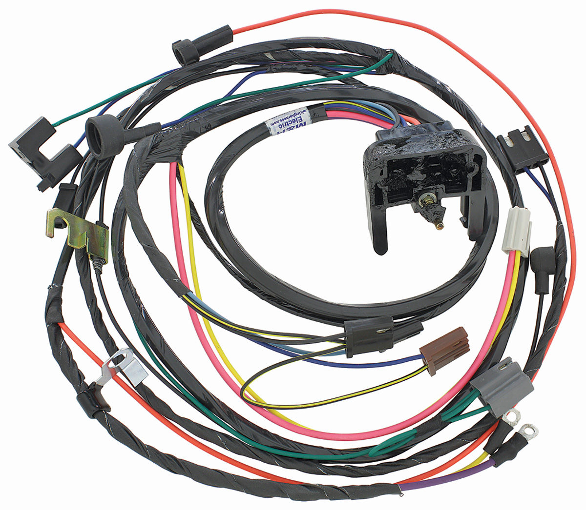 38931 lrg m&h 1970 chevelle engine harness 396 454 hei w manual trans hei wiring harness at gsmx.co