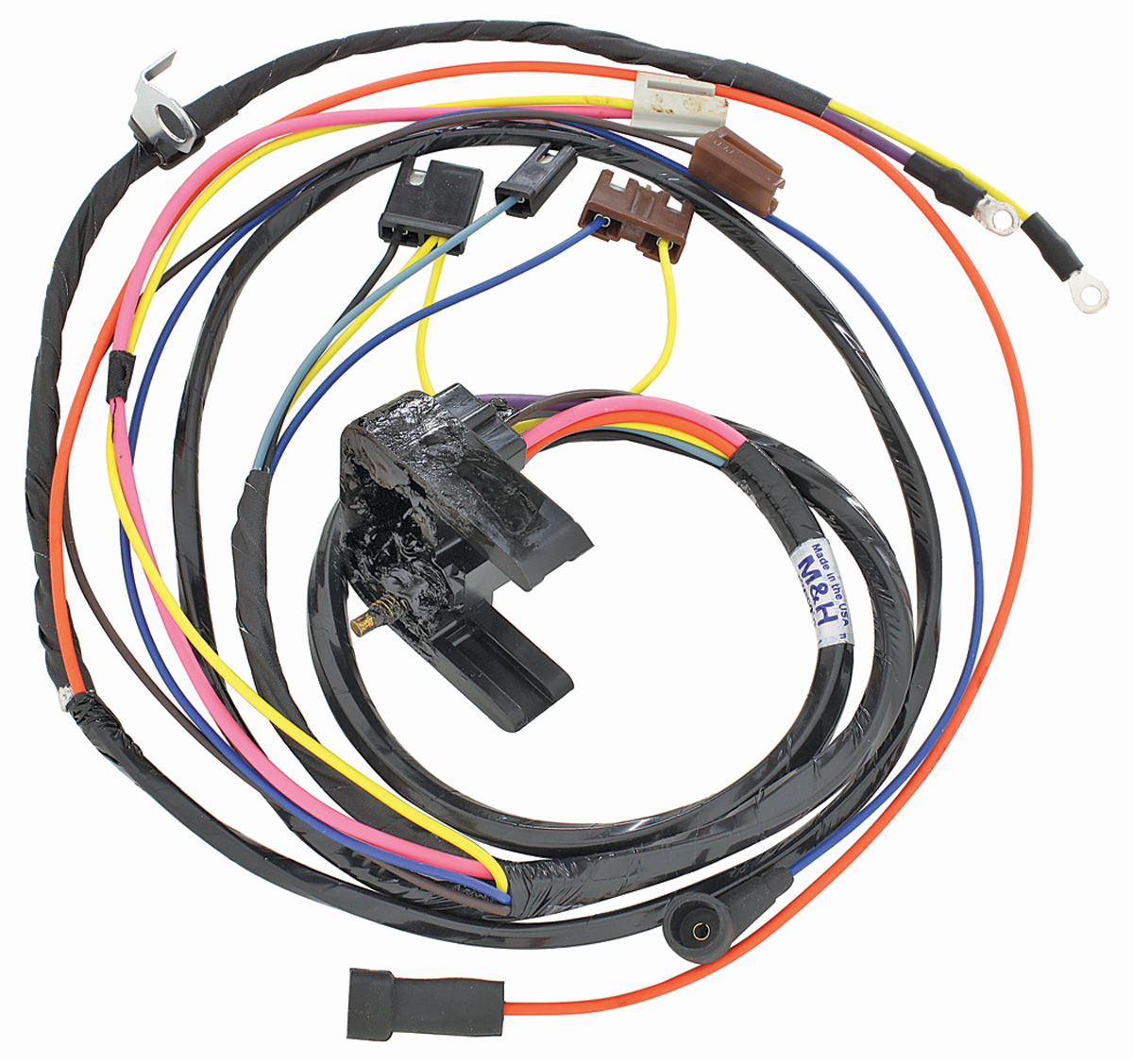 38939 lrg m&h 1969 el camino engine harness 396 hei w gauges @ opgi com 1971 El Camino Wiring Harness at mifinder.co