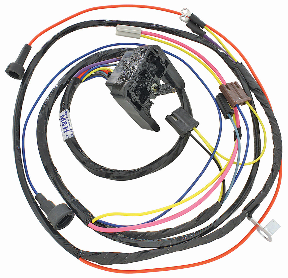 m&h 1968-69 chevelle engine harness 396 hei w/warning lights, Wiring diagram