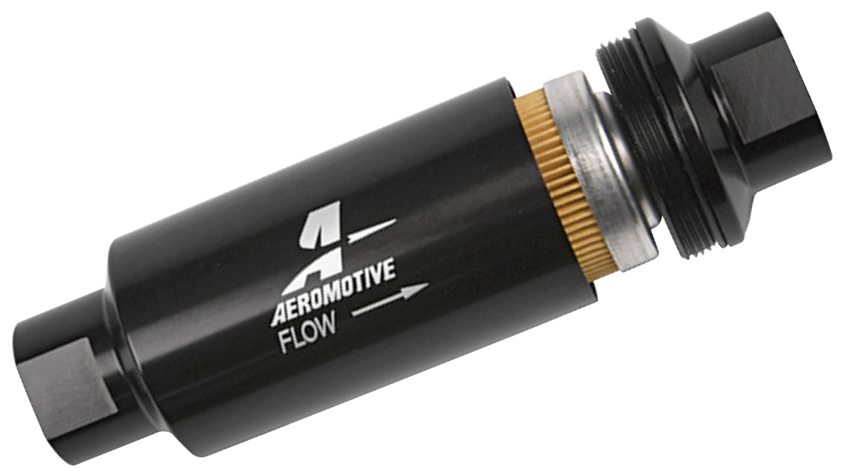 1964-77 Chevelle Fuel Filters, Aeromotive, In-Line 10 Micron, Black