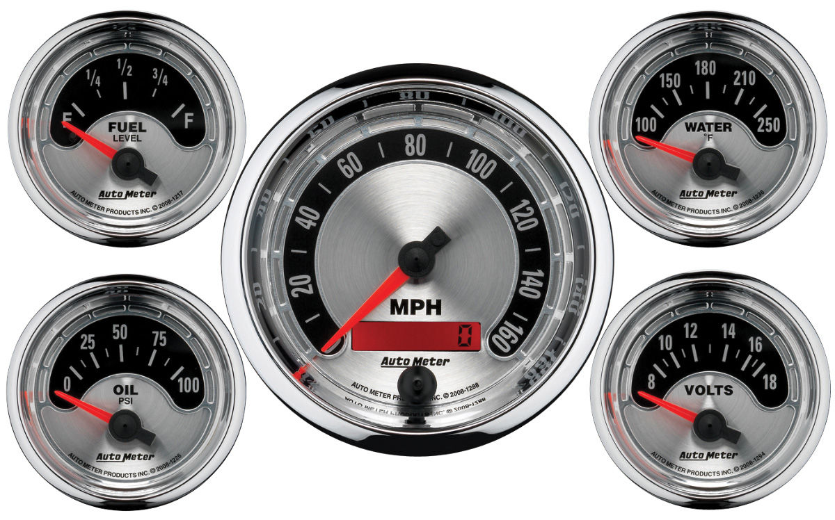 AUTOMETER 1964-77 Chevelle Gauge, American Muscle Series 3-3/8 ...