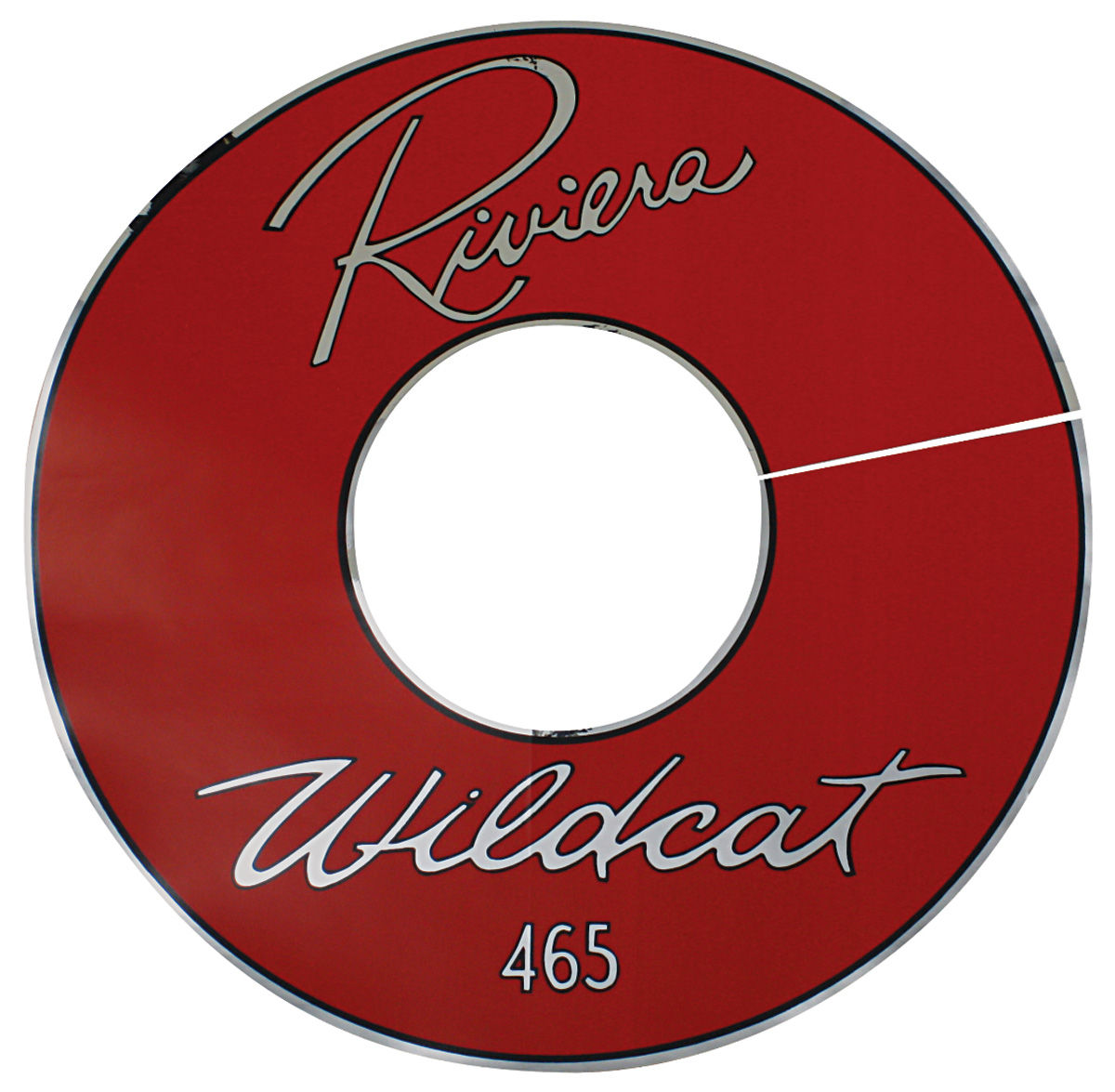 "1963 Air Cleaner Decal Riviera Wildcat 465 14"" Red Vinyl"