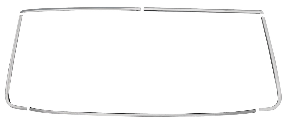 RESTOPARTS 1964-65 Windshield Reveal Moldings, Front