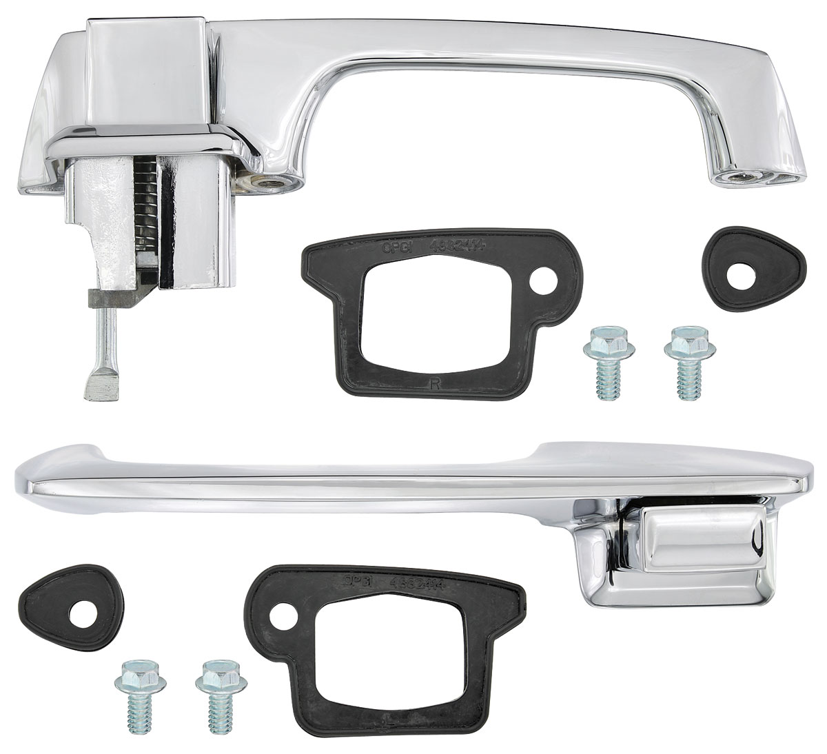 1967-70 Cadillac Door Handle Kit Outside Front (Eldorado). click to enlarge. u0027  sc 1 st  Original Parts Group & RESTOPARTS 1967-70 Cadillac Door Handle Kit Outside Front (Eldorado ...