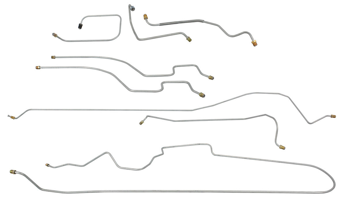 1967 brake line set  front-to-rear power brake  deville  calais