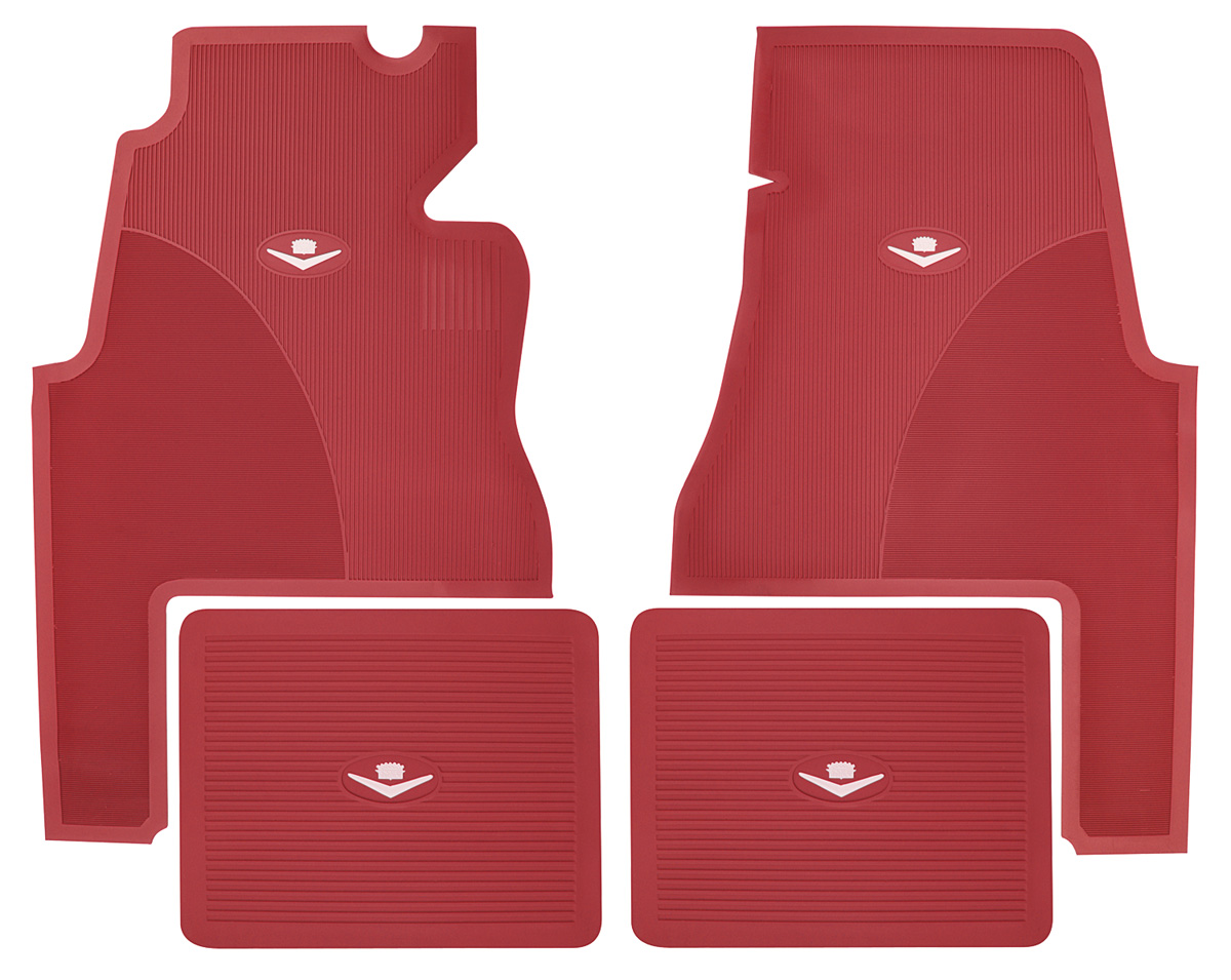 1959 60 Cadillac Floor Mats Original Style Rubber 2 Door