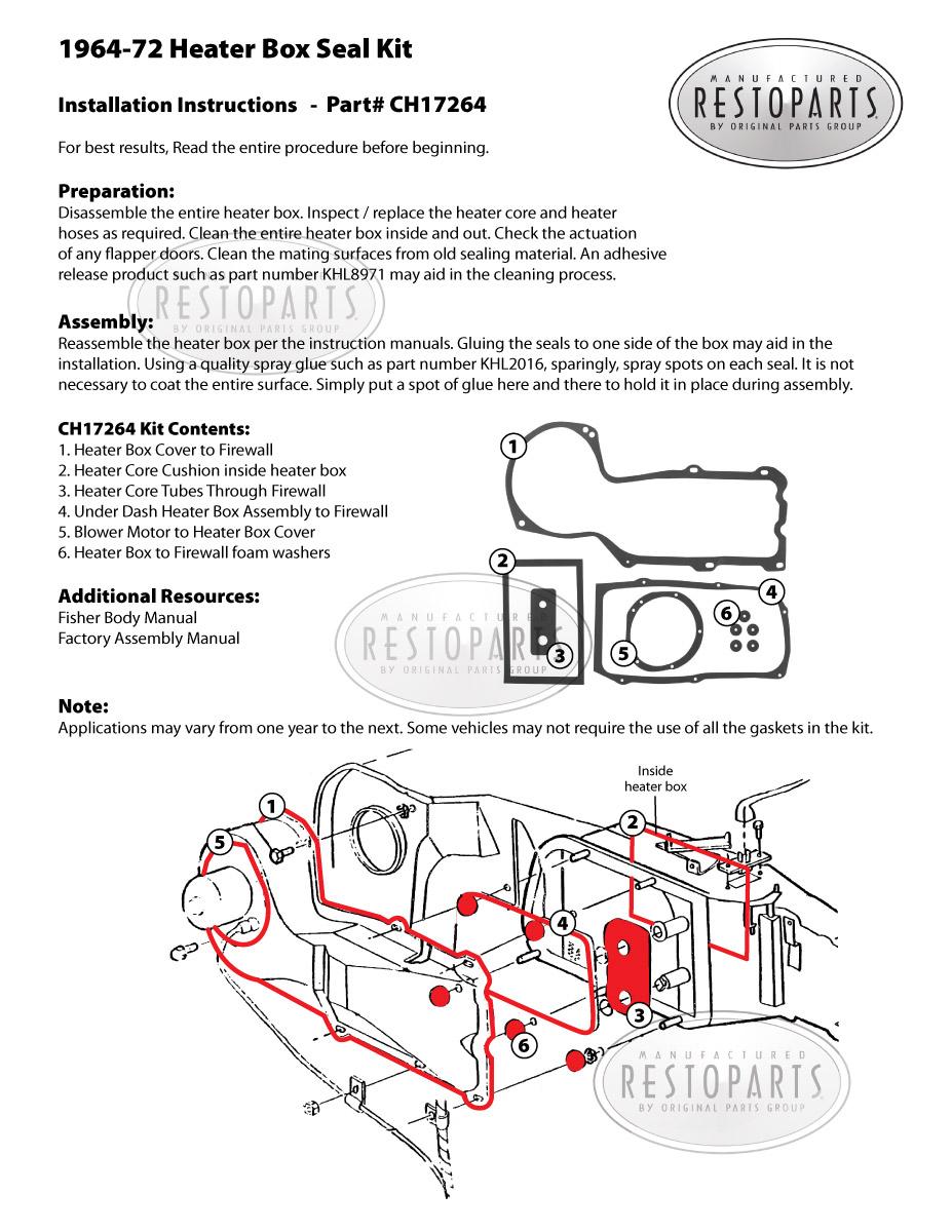 Restoparts Gto Heater Box Seal W  O Ac Fits 1964