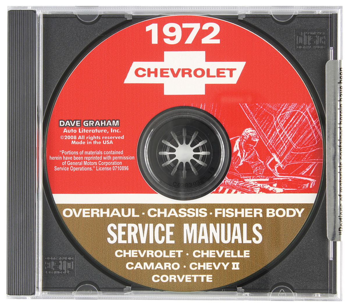 CD-ROM Factory Shop Manuals Service Manual Only