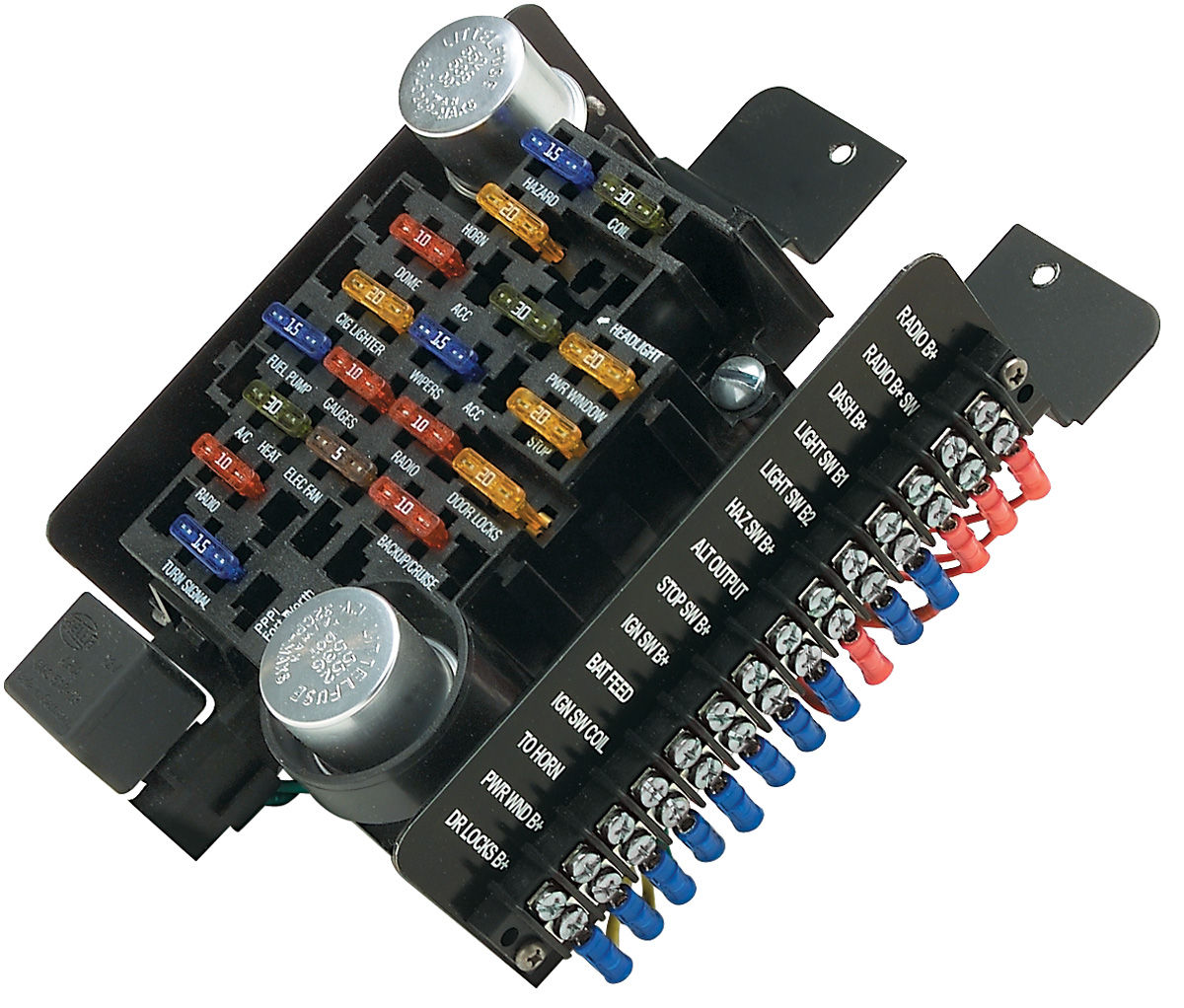 CH22471 lrg painless performance 1961 77 cutlass circuit fuse block 20 circuit painless fuse box at bakdesigns.co