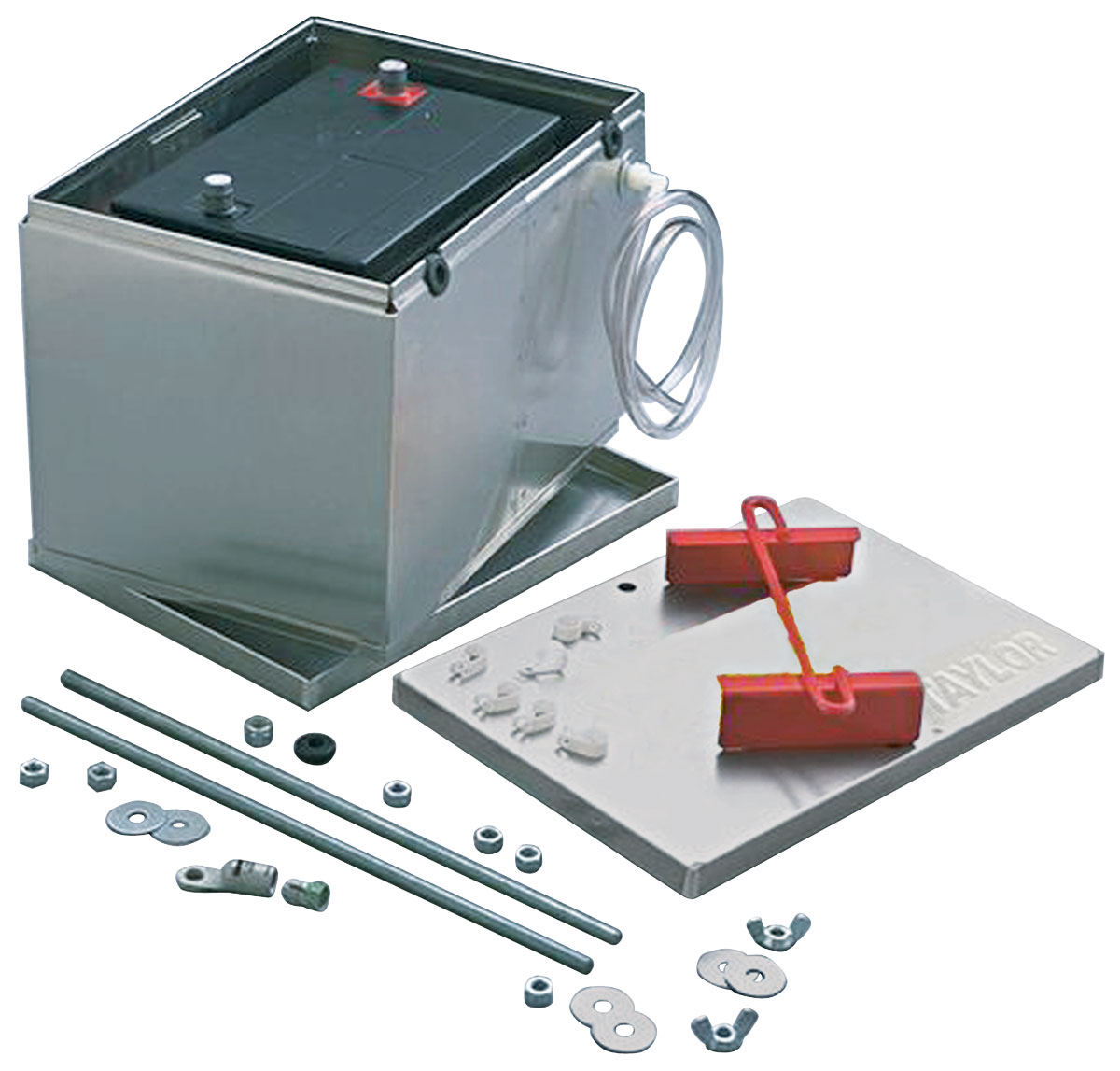 Taylor Battery Box Aluminum Fits 1963 76 Riviera Opgi Com