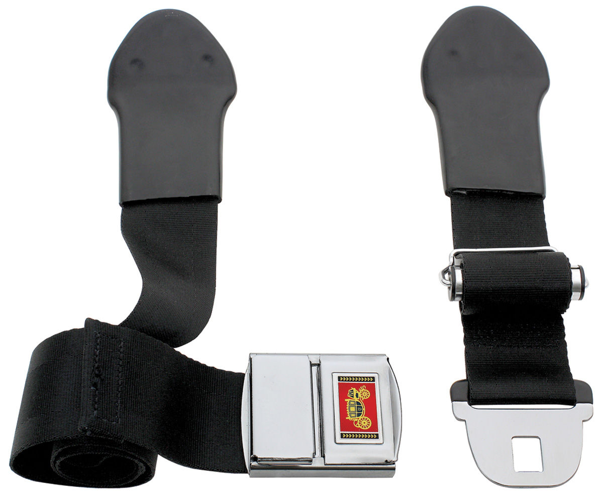 Chevelle Seat Belt Deluxe Style Front Fits 1966 Chevelle