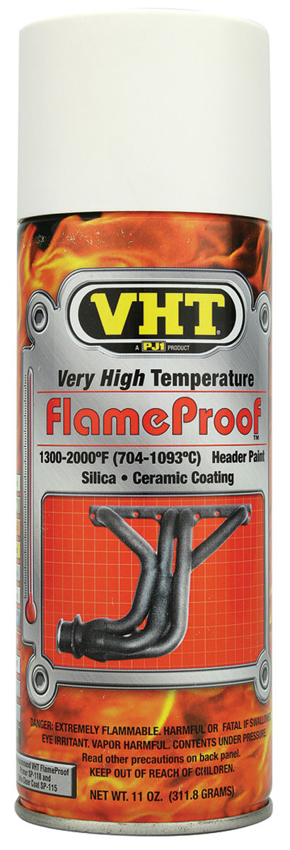 1961 1974 Tempest Flameproof High Heat Paint White Primer 11 Oz
