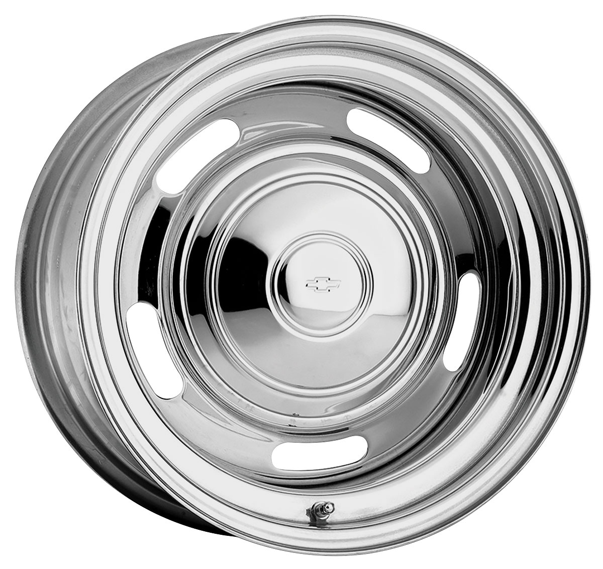 "14 Buick Rally Wheels >> U.S. Wheel 1964-77 Chevelle Wheel, Rally (Chrome) 14"" Wheels X 7"" (BS 4"") @ OPGI.com"