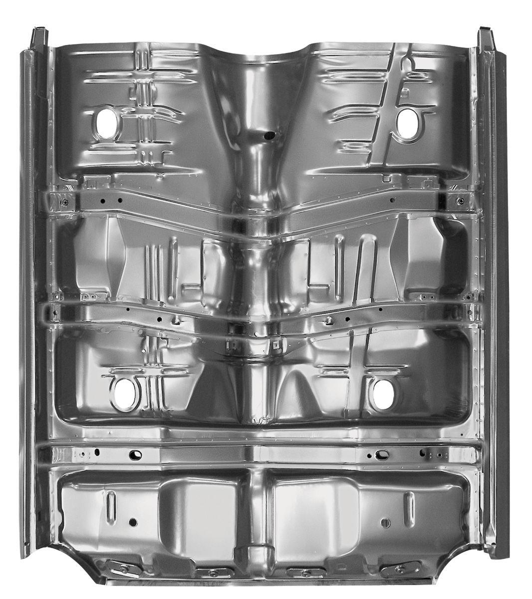 Restoparts 1968 69 floor pan complete chevelle w braces for 1976 corvette floor pans