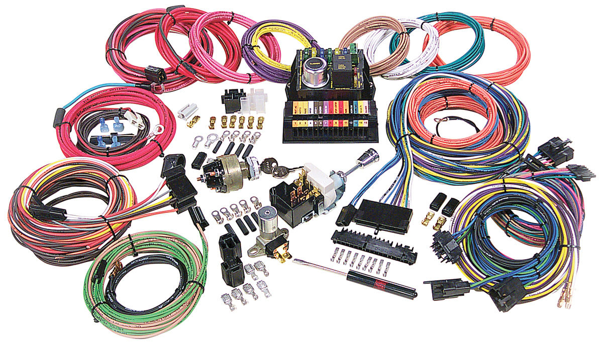 CH28827 lrg american autowire wiring harness kit, highway 15 @ opgi com 1971 El Camino Wiring Harness at mifinder.co