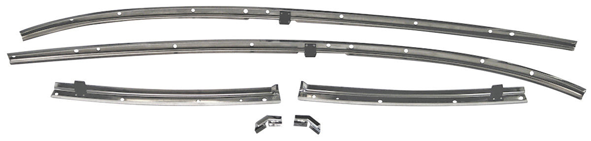 Chevelle Roof Rail Weatherstrip Channels Fits 1969