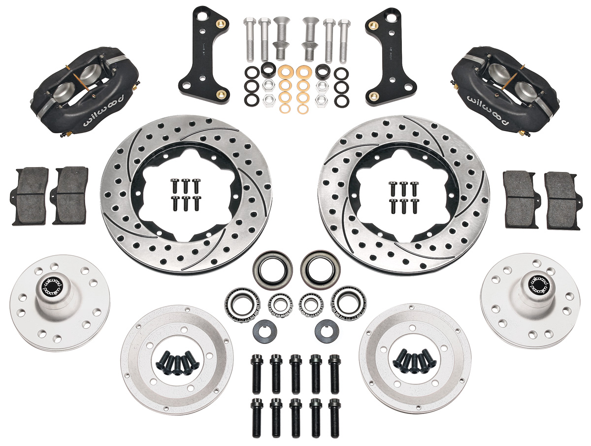 "Brake Kits, Forged Dynalite Pro Series 11"" Front  Drilled/Slotted Rotors  black calipers"