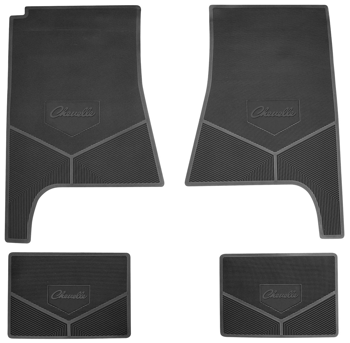 1968 69 Floor Mats, Rubber Logo Chevelle Script. Click To Enlarge