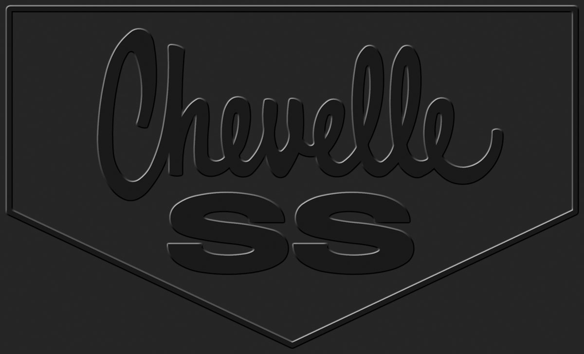 Legendary Auto Interiors Floor Mats Rubber Logo Chevelle