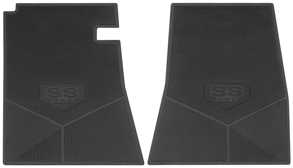 Legendary Auto Interiors 1966 67 Floor Mats Rubber Logo