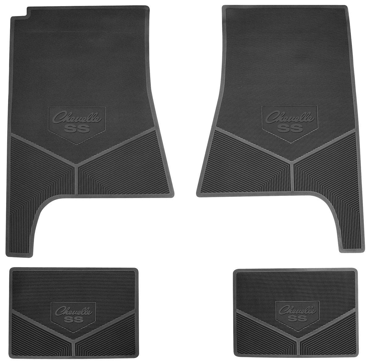 Legendary Auto Interiors Floor Mats Rubber Logo Chevelle