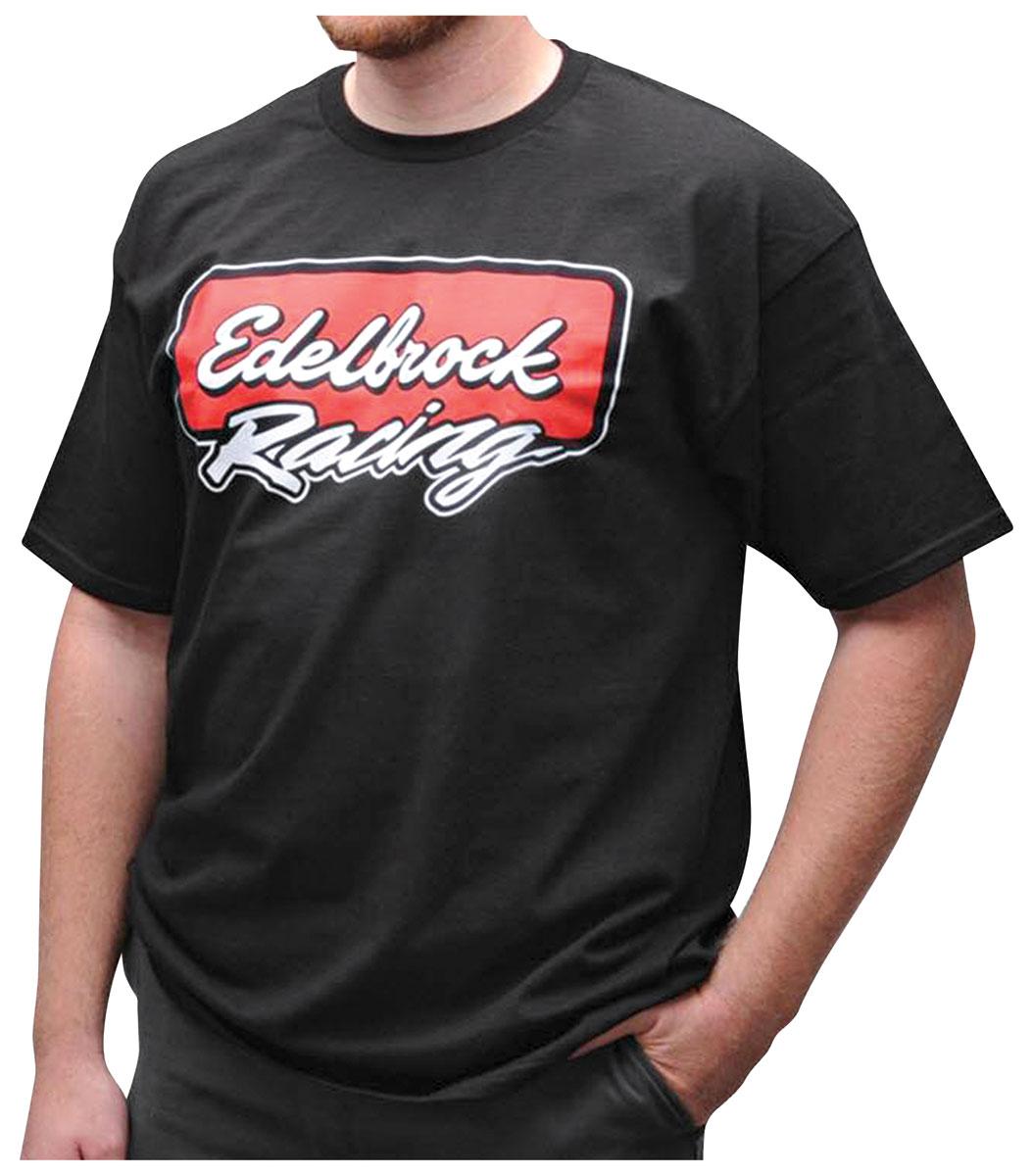 05ecbdba Edelbrock Racing T-Shirt black Fits 1964-77 Chevelle @ OPGI.com