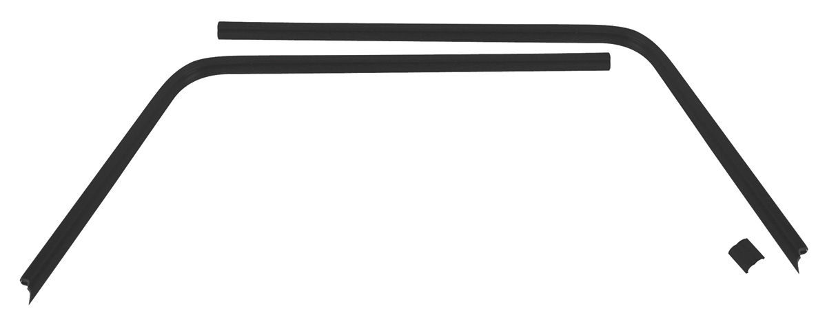 trim parts headliner seal strip  plastic interior rear window 2 ht  3
