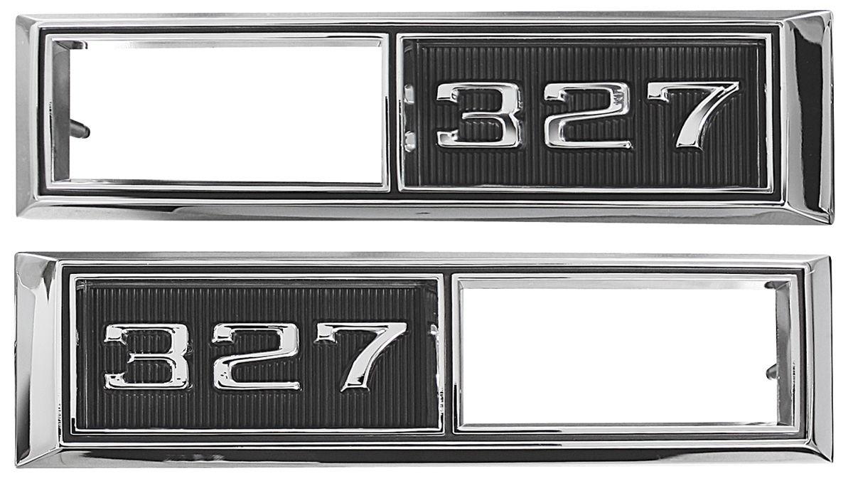 Trim Parts Chevelle Fender Emblem 1968 Marker Lamp Bezel