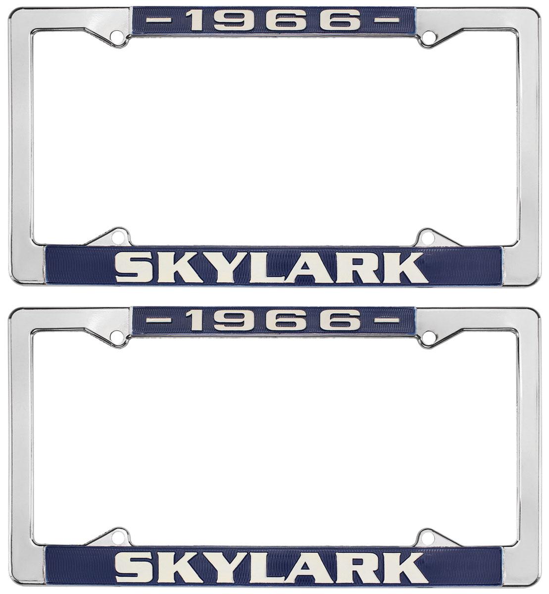 Restoparts License Plate Frames 1964 72 Skylark Fits 1966