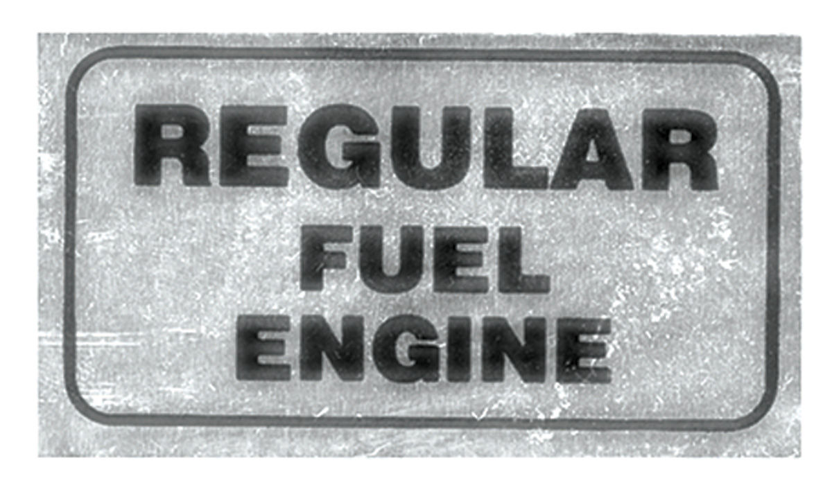 1970 gto valve cover decal regular fuel engine for Telephone mural 1970