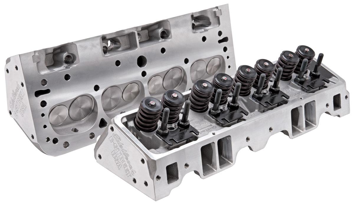 Cylinder Head, E-Series Aluminum Small-Block straight plugs (70cc) (185cc  intake)