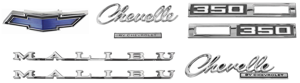 Nameplate Kits, 1969 Chevelle    350 Malibu