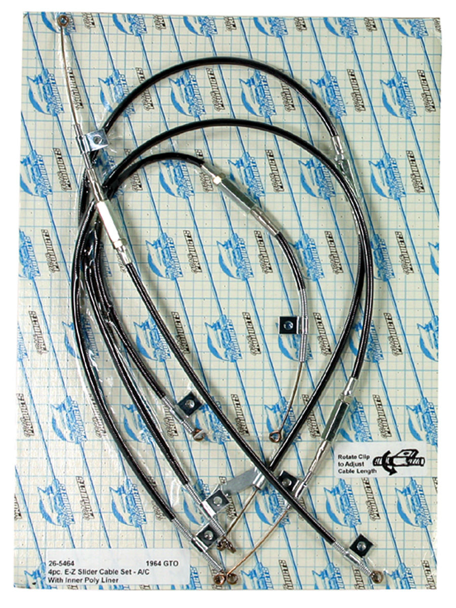 Keys And Wheels >> Old Air Products LeMans Heater & Air Conditioning Control Cable 4 cables Fits 1964 LeMans @ OPGI.com