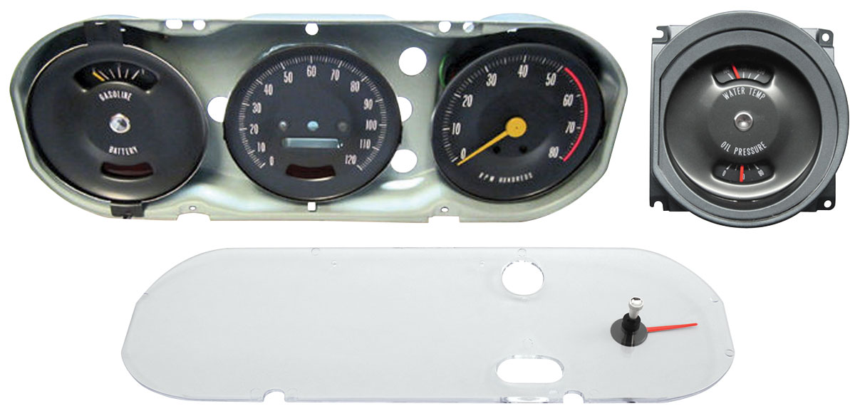 Gauge Cluster Assembly, Premium GTO Rally Gauge Fits 1967 ...
