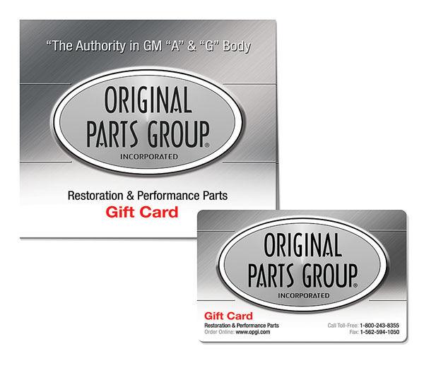 original parts group gift card. Black Bedroom Furniture Sets. Home Design Ideas