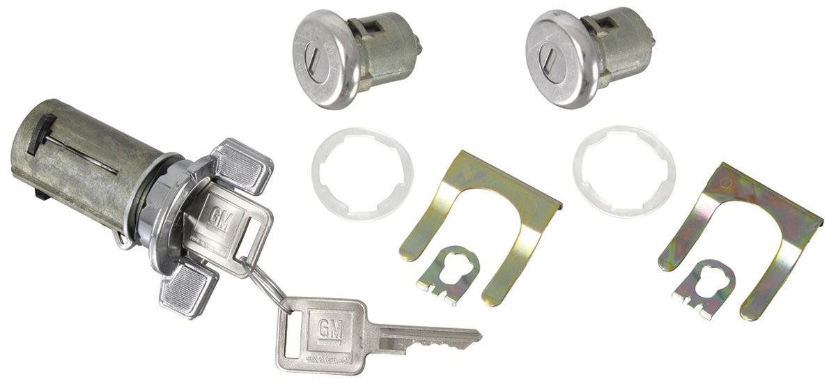 Door Amp Ignition Lock Set Square Keys Fits 1969 77 Cutlass