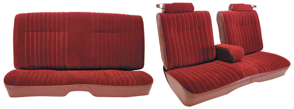 1981-87 Regal Seat Upholstery, Notchback Bench Seat with Fold-Down ...