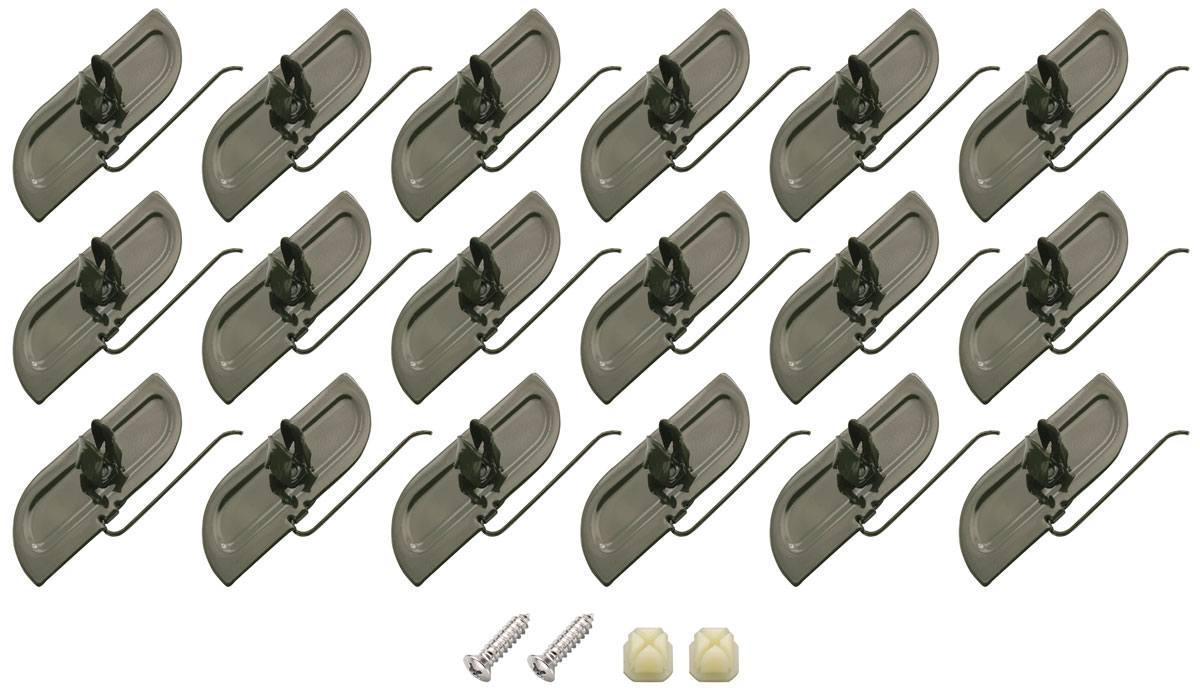 Restoparts Rocker Molding Clips 22 Piece Fits 1978 79