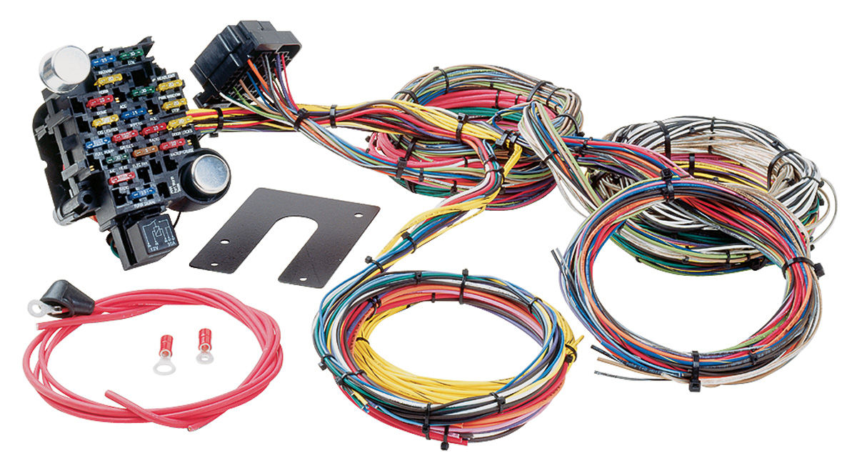 painless performance muscle car harness universal style 28 circuit rh opgi com painless wiring harness ls painless wiring harness kits